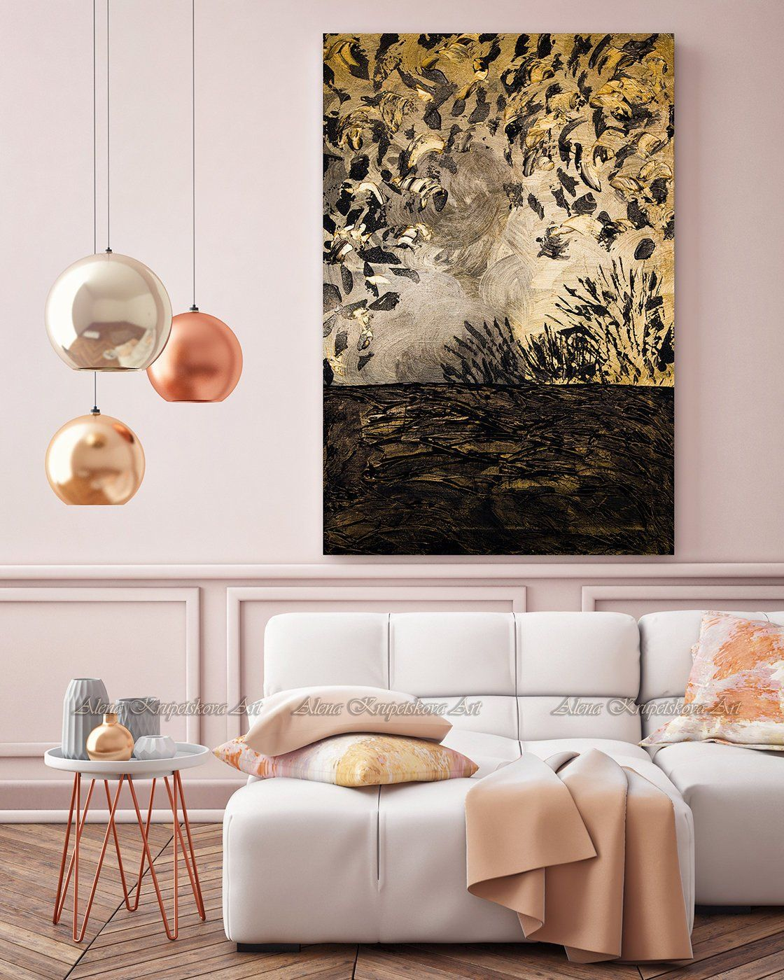 Abstract Gold Wall Art Modern Wall Art Gold Painting Gold Etsy Gold Wall Art Gold Wall Decor Modern Wall Art