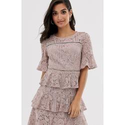 Mohito - Floral print babydoll dress - Elfenbein MohitoMohito #rosaspitzenkleider