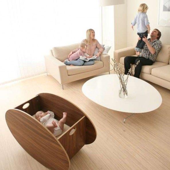 Designer Babyzimmer designer baby cradle in modern scandinavian layout for the kiddoes