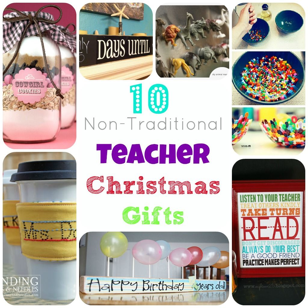 Links to non-traditional easy homemade teacher Christmas gifts ...