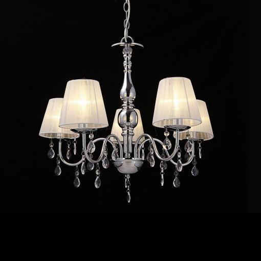 Luxpro Lámpara De Araña De Cristal Blanca E14