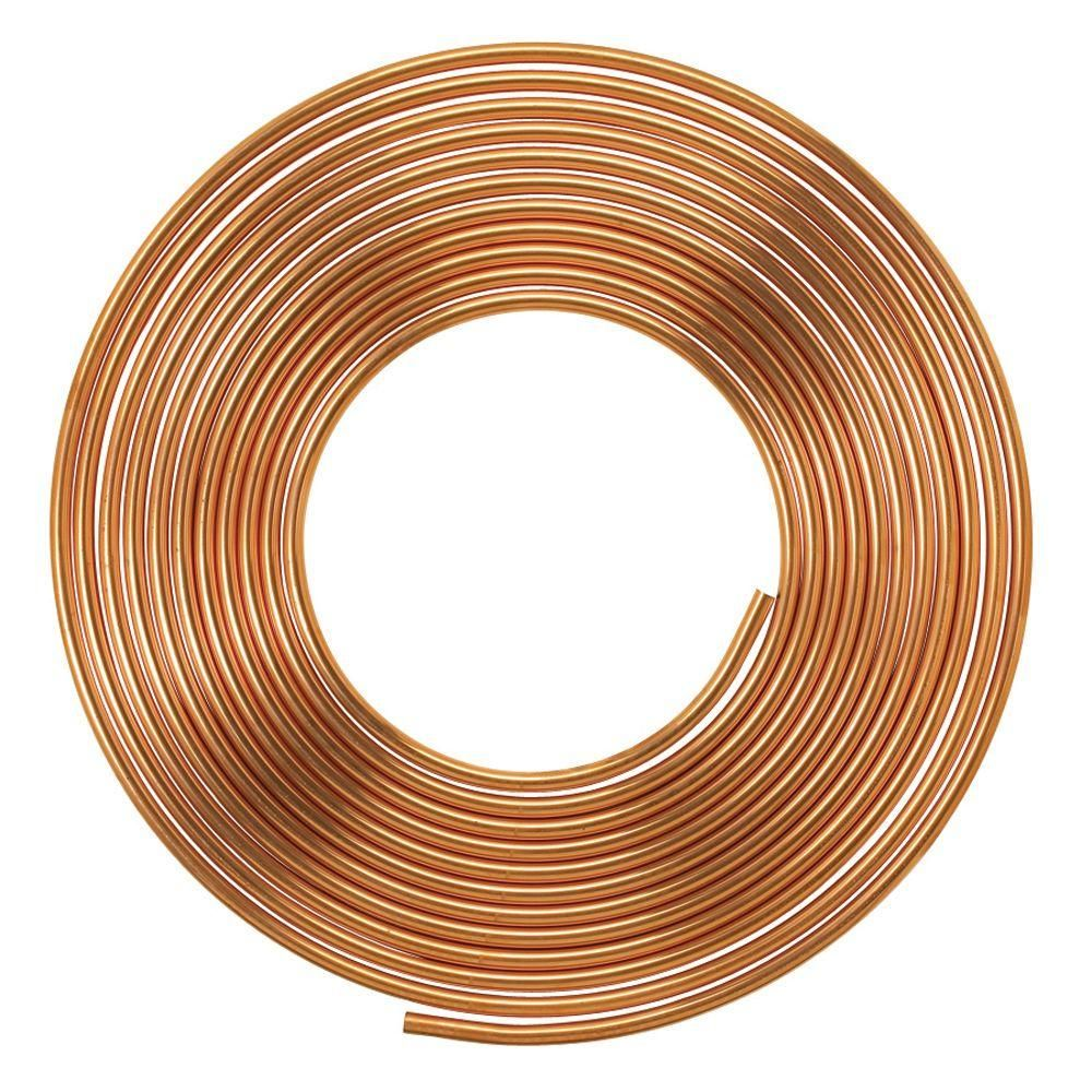 Everbilt 1 2 In I D X 60 Ft Copper Soft Type L Coil Tubing 5 8 In O D Brown Copper Tubing Copper Plumbing Pipes