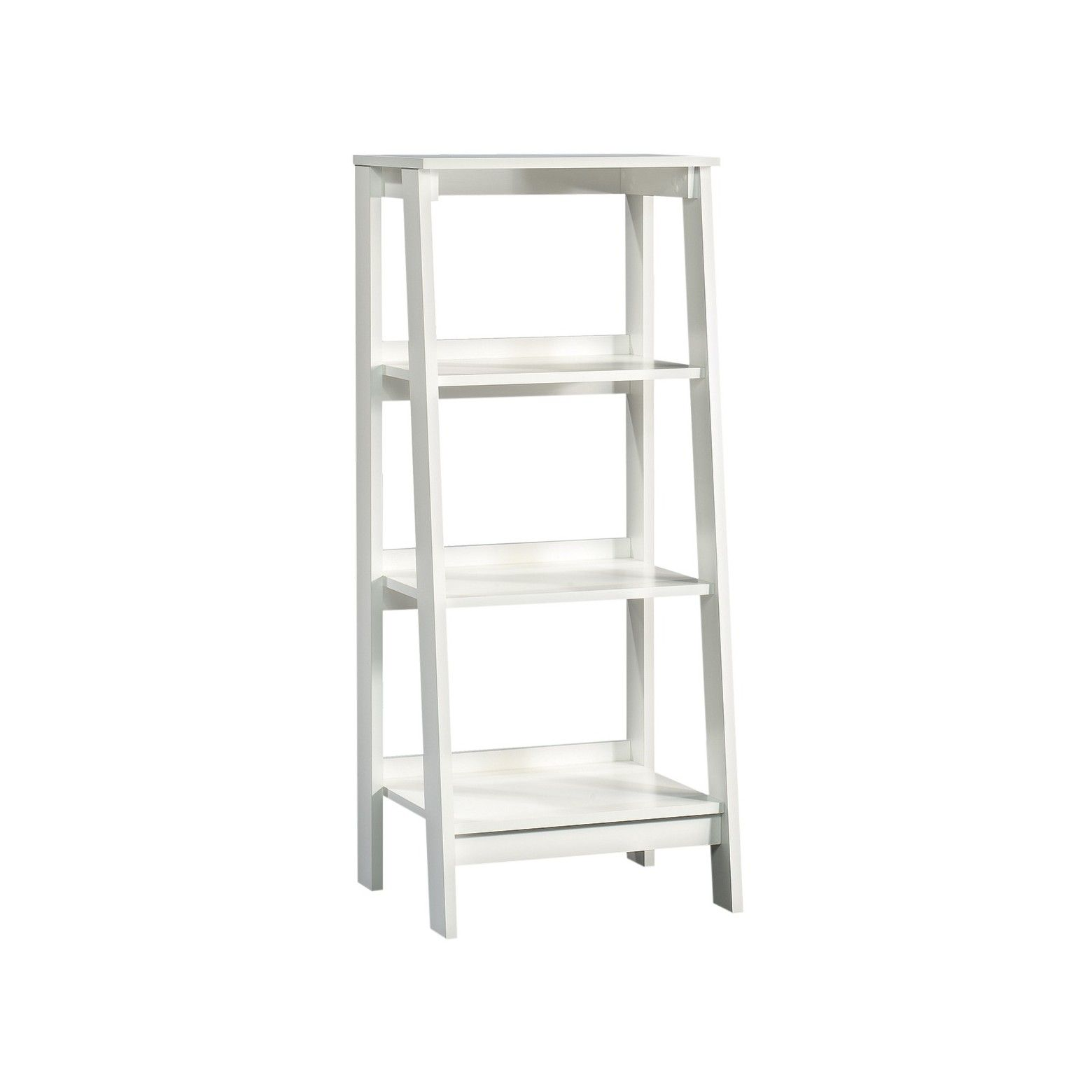 Ikea bookcase with glass doors  Trestle  Shelf Bookcase White  Room Essentials  Open shelves