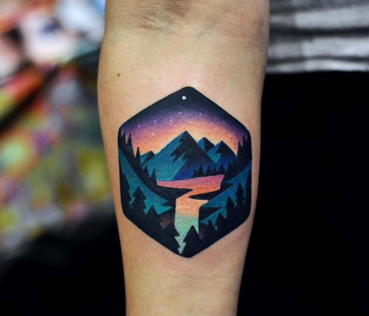 Cote Tattoo david cote tattoo. i don't usually like colored tattoos but this is