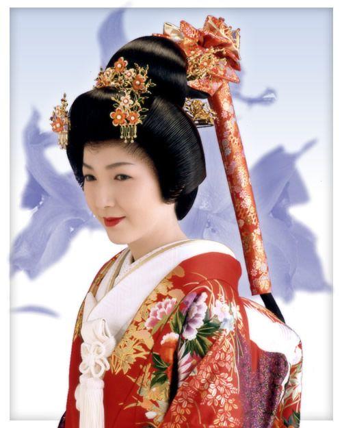 Japanese Wedding Hairstyles: Japan, Edo Era, Bunkin Takashimada Sagegami Traditional