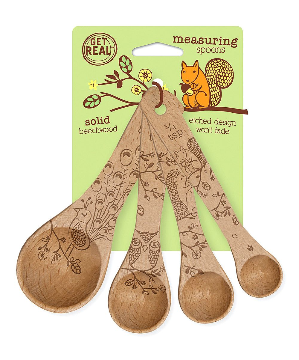 Forest Friends Wood Measuring Spoon Set  Objet décoration