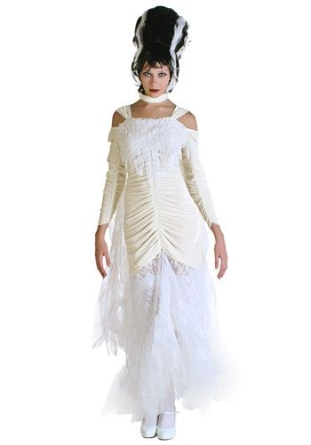 This Gothic Bride of Frankenstein Costume works perfectly for Halloween.  sc 1 st  Pinterest & Bride of Frankenstein Costume - Womens Frankenstein Costumes   My ...