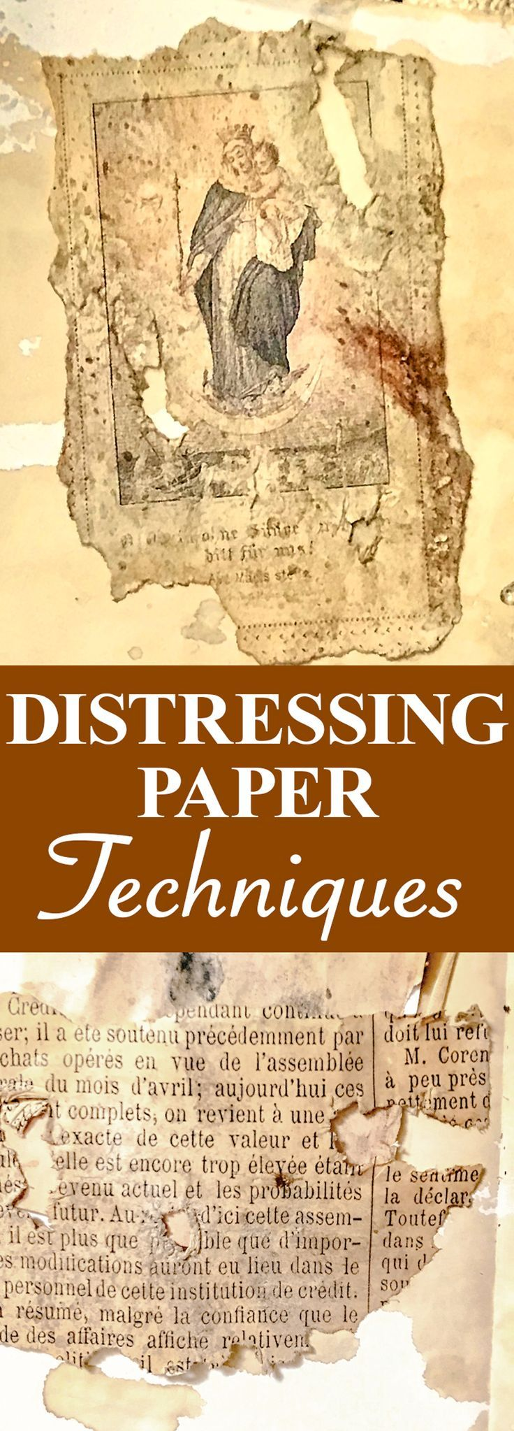 Paper Craft Techniques - Distressing Paper! #artjournalmixedmediainspiration