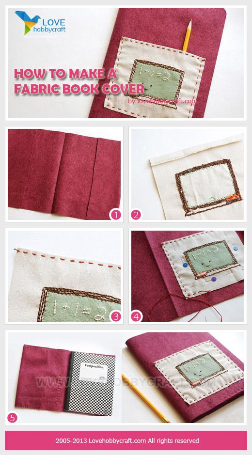How To Make A Fabric Book Cover Without Sewing : How to make a fabric book cover lovehobbycraft