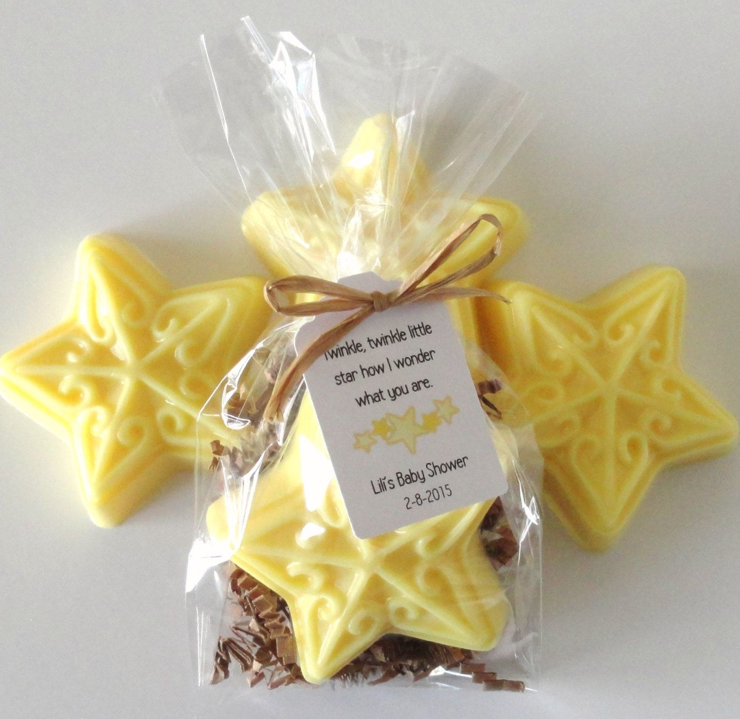 Star Soap Baby Shower Favors With Custom Tags Twinkle