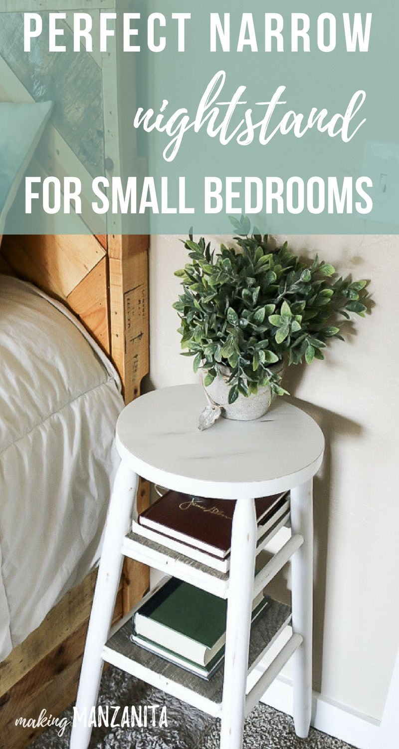 How to upcycle a bar stool into a narrow bedside table diy do it