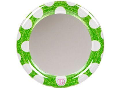 Green Polka Dot Glitter Locker Mirror for $5.99.