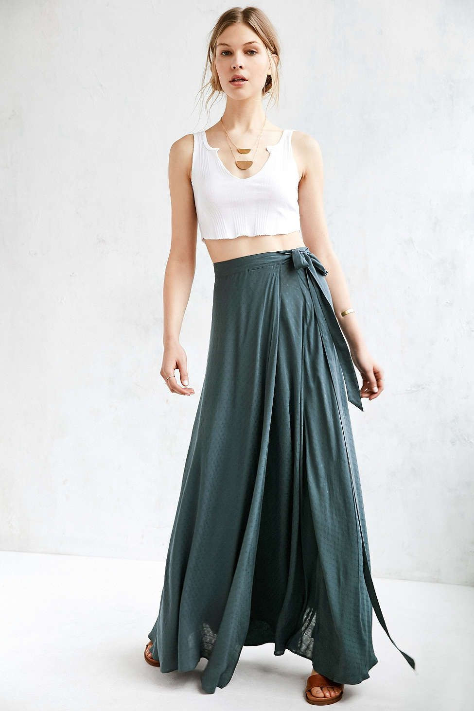 e6f18423a39c Ecote Zella Boho Wrap Maxi Skirt   I'd definitely wear that...or ...