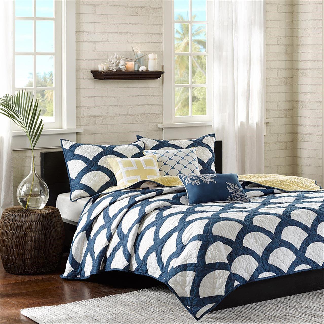 kokomo blue bedding set queen size white bedding set white