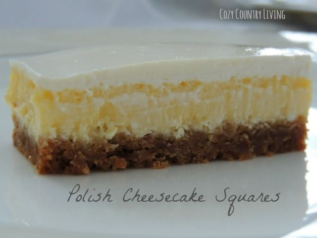 This Cheesecake Is A Family Favorite It Has A Delicate Crust And A Creamy Cheesecake Layer To Fun Cheesecake Recipes Polish Desserts Polish Cheesecake Recipe