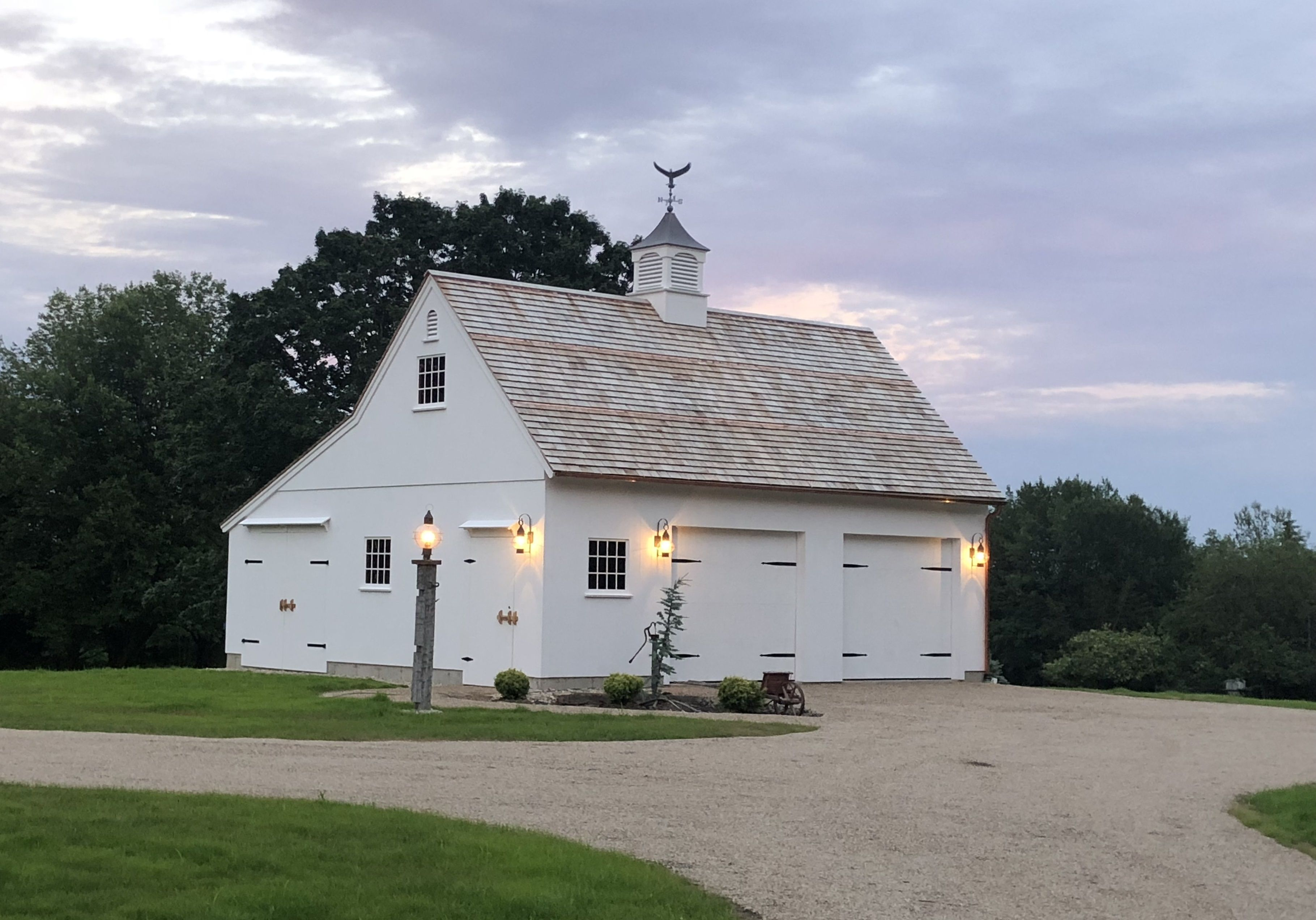 Our 28 X 30 One Story Post Beam Barn Barn Construction Carriage House Garage Farmhouse Garage