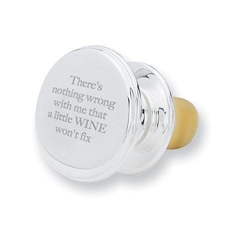 There's Nothing Wrong with Me Wine Stopper Jewelry Adviser Gifts. $30.00. Save 60% Off!