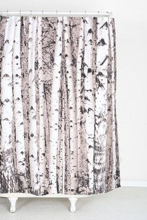 Birch Tree Shower Curtain Contemporary Shower Curtains By