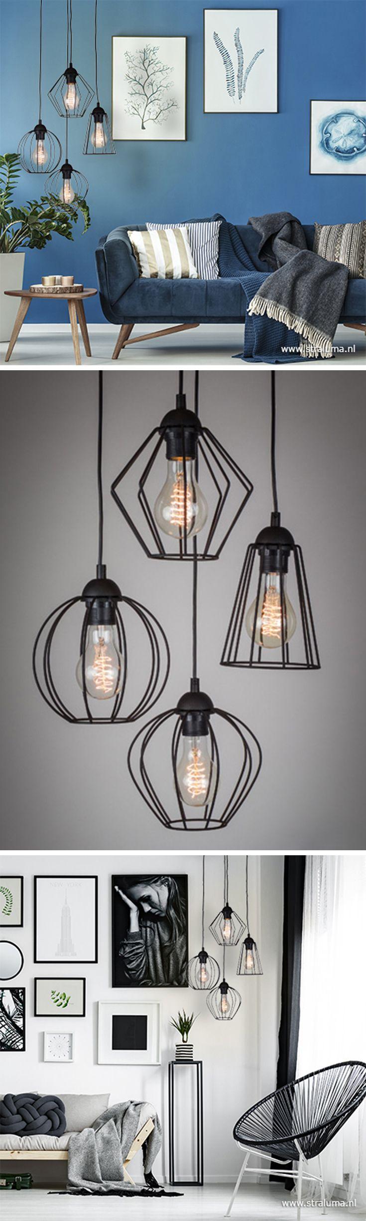Wat Een Leuke Draadhanglamp Helemaal Volgens De Laatste Trends Leuk De Verschillende Kapjes En Ve Thuis Woonkamer Lampen Woonkamer Ideeen Voor Thuisdecoratie