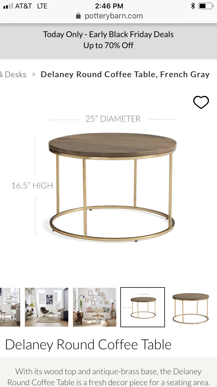 Pin By Sarah Bingham On New Home With Images Coffee Table Round Coffee Table Fresh Decor