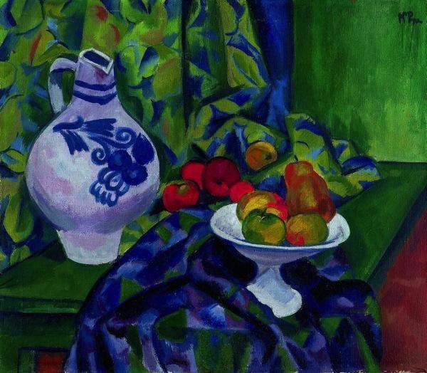 Hermann Max Pechstein (German, 1881 - 1955) - Still  life, 1912