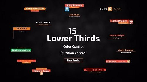 Download 15 Lower Thirds 52455 After Effects Templates Free