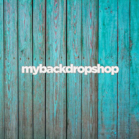 3ft X 3ft Turquoise Blue Wood Floor Drop Photography Backdrop Wood