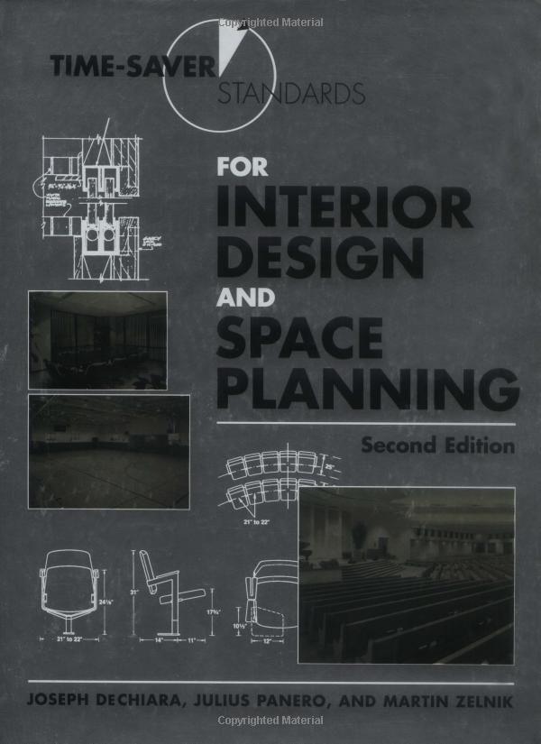 Amazon.com: Time-Saver Standards for Interior Design and Space Planning, 2nd Edition (9780071346160): Julius Panero, Martin Zelnik: Books