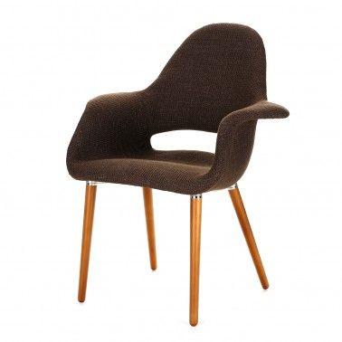Replica EamesSaarinen Organic Chair Textured Fabric Dining