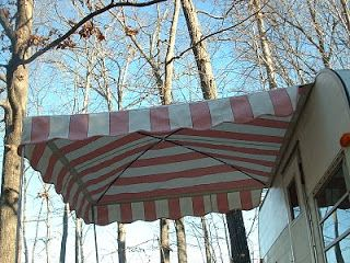 Pictures Of A 6 X 6 Arched Up Vintage Trailer Awning Suitable For A Tiny Travel Trailer Or A Teardrop Trailer Trailer Awning Camper Awnings Vintage Trailer
