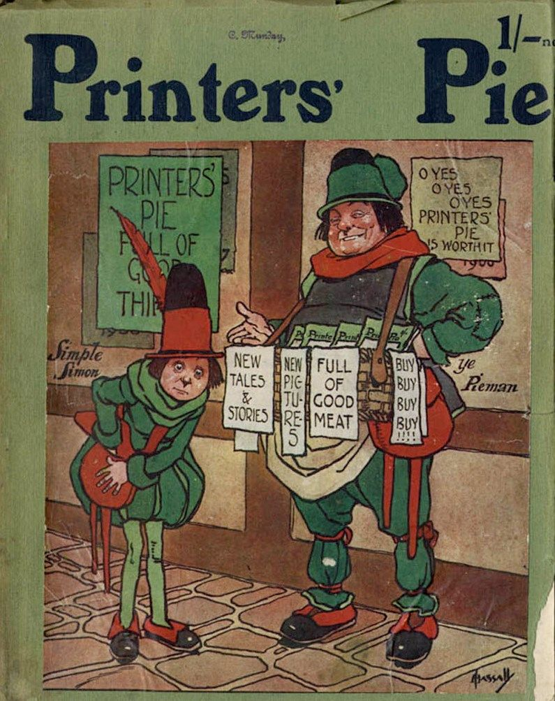 Printer s Pie - 1909 - Portada de John Hassall