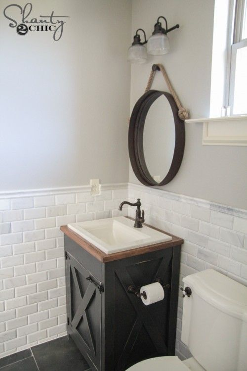 Photo of DIY Farmhouse Bathroom Vanity – Shanty 2 Chic