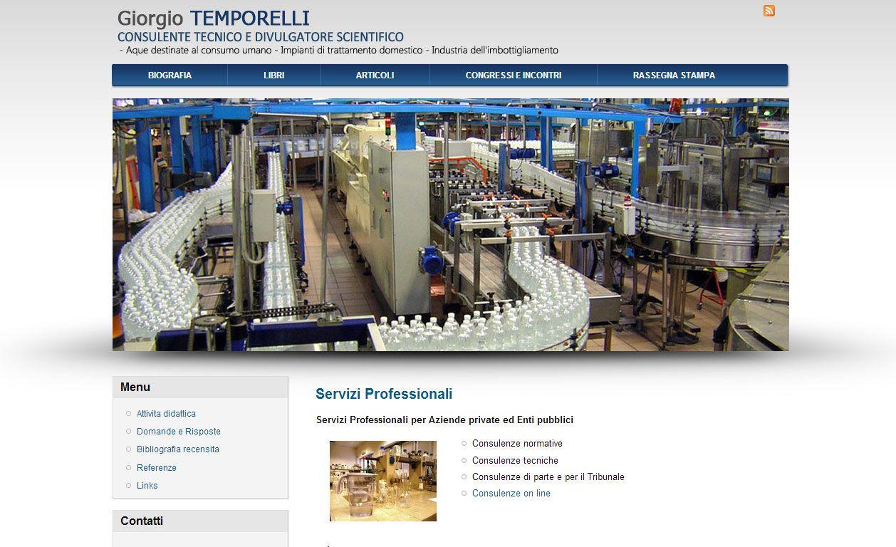 Sitio Italiano de Giorgio Temporelli ilustrado con imágenes de calidad.