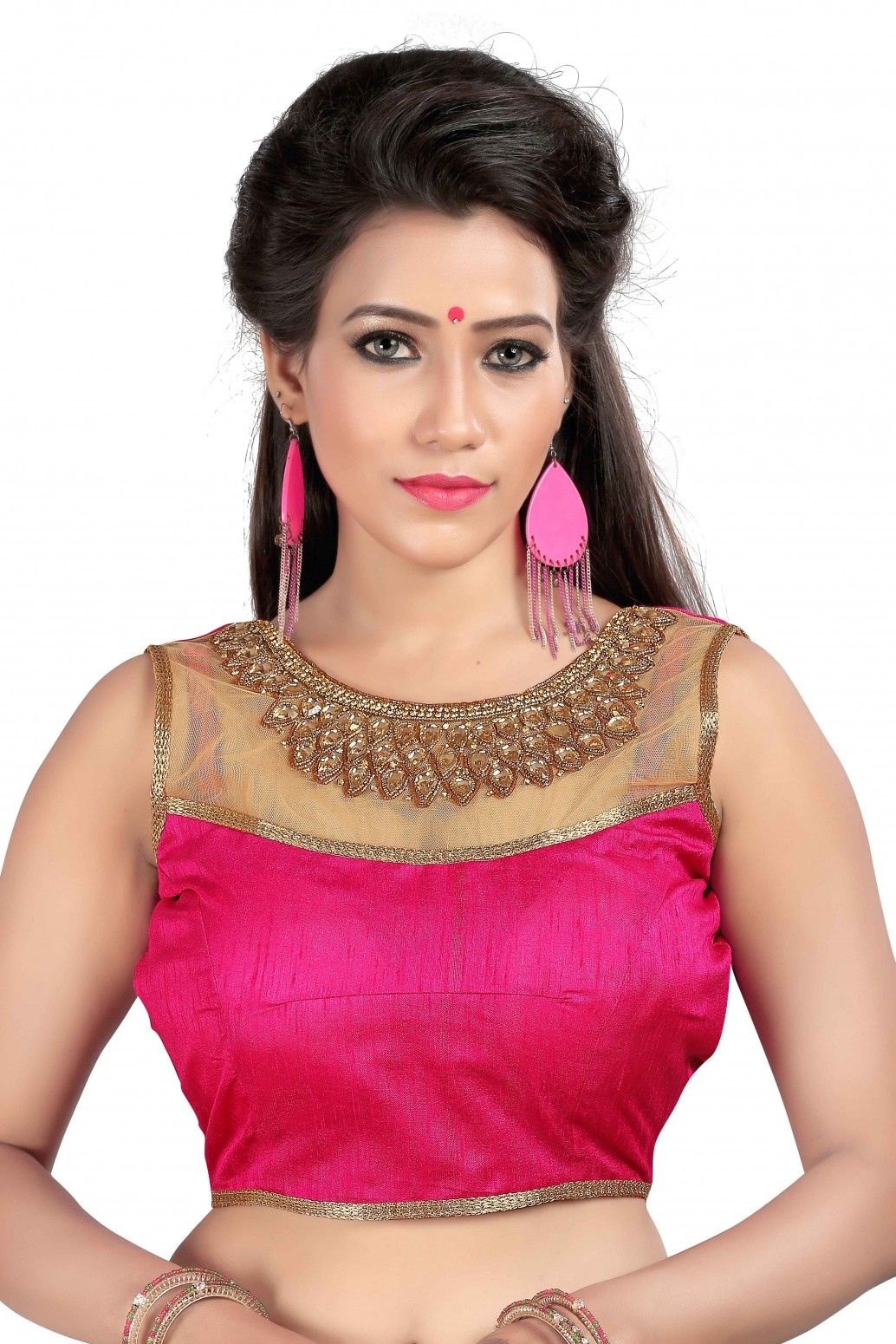 f60564963a Buy kuvarba fashion Pink Banglori Silk Blouses Online at Low prices in  India on Winsant, India fastest online shopping website. Shop Online for  kuvarba ...