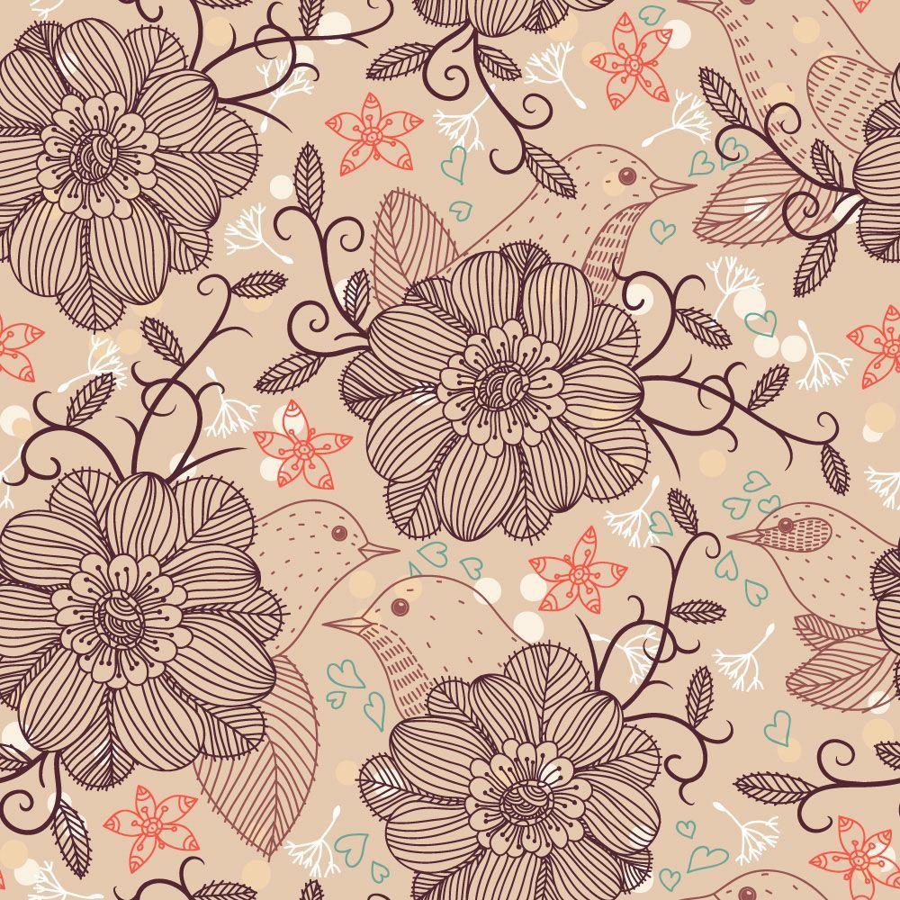 Papel de Parede Floral 1308