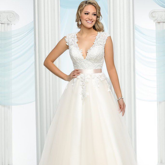 Style 50431 is the definition of a romantic gown | Wedding ...
