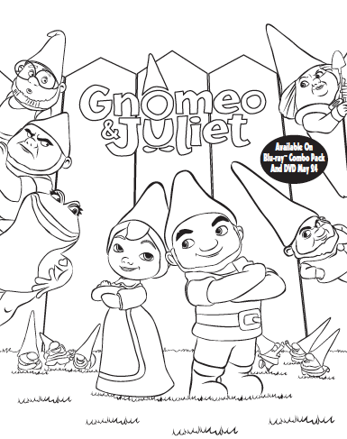 gnomeo and juliet activity and coloring sheets