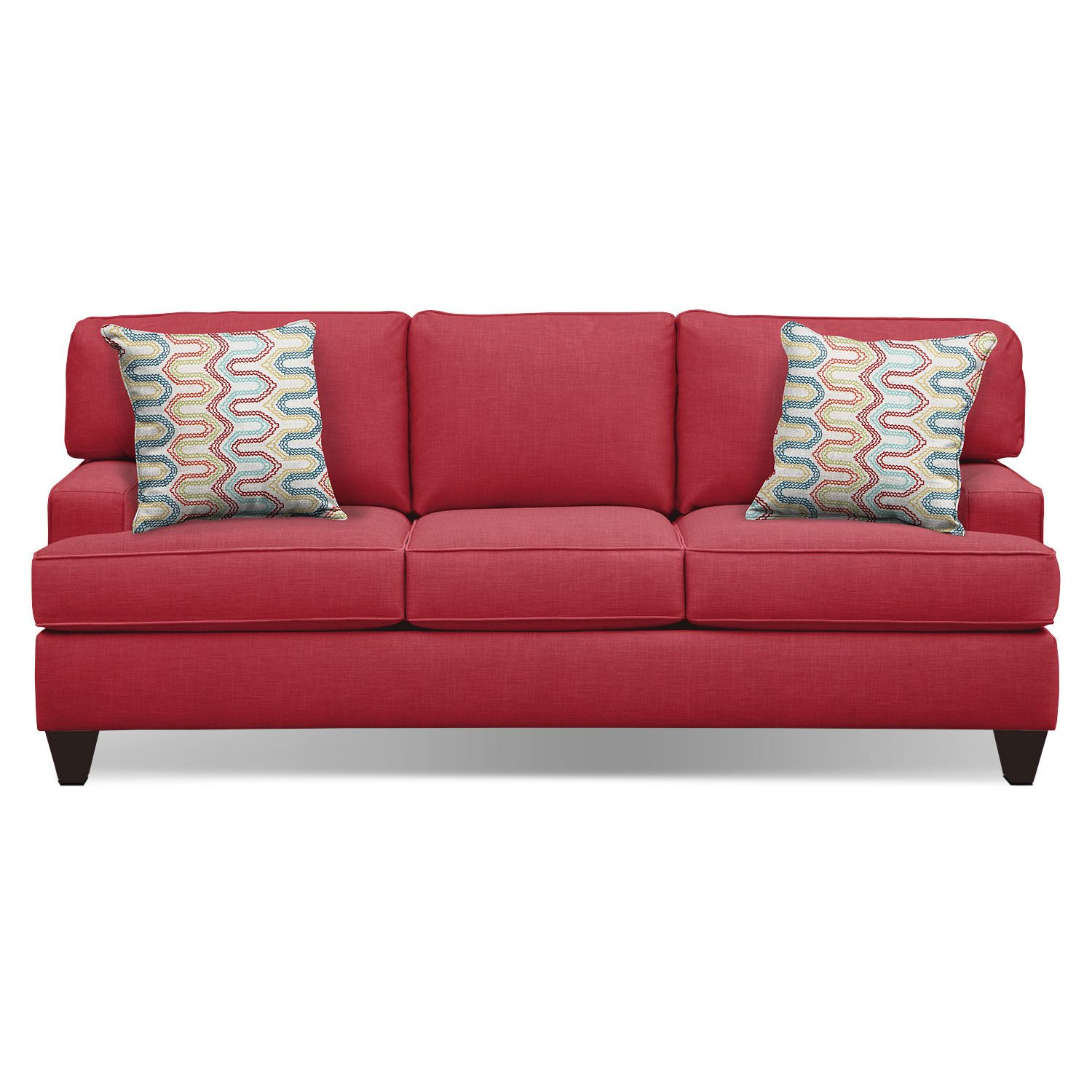 Living room furniture conner red 87 sofa