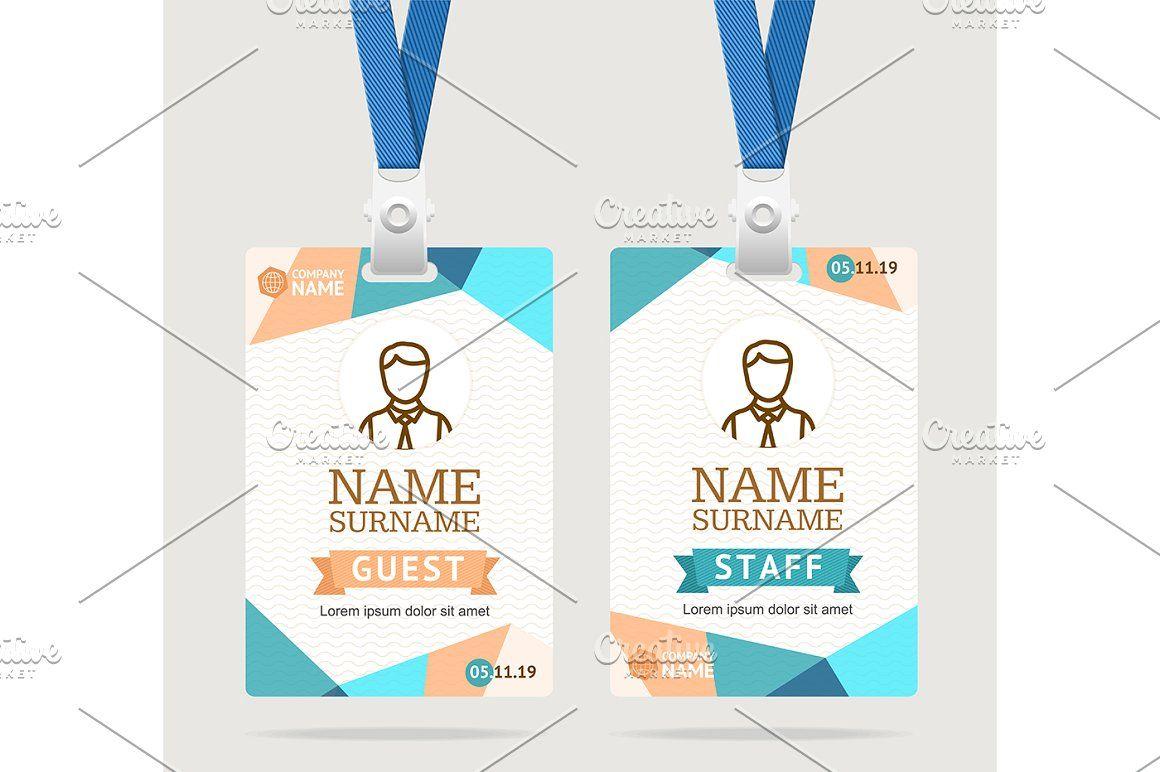 Id Card Template Plastic Badge Id Card Template Card Design Card Template