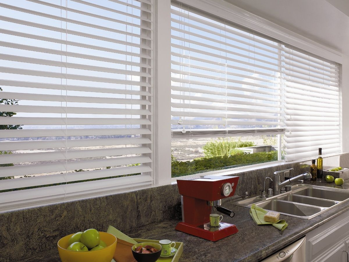 Modern Kitchen Blinds aluminium venetian blinds: enhance your kitchen space with these