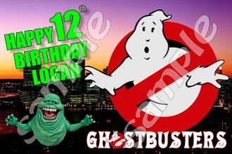 """GHOSTBUSTERS 3.25"""" X 5"""" RECTANGULAR STICKERS (Set of 12)"""