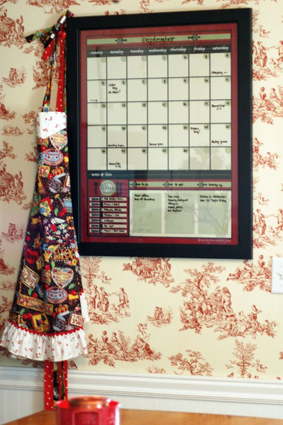 18x24 Large DRY ERASE Calendar Menu Note Board by masterpiecememos, $18.99