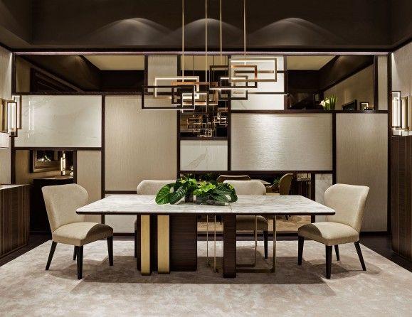 Nella Vetrina Saint Germain Luxury Italian Dining Table In