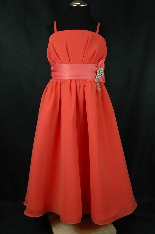 koraalrode jurk