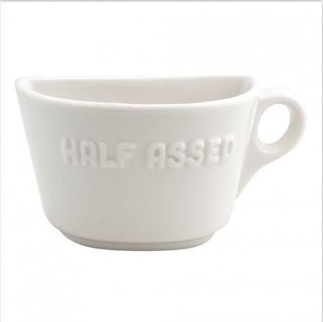 Half Assed Half Mug