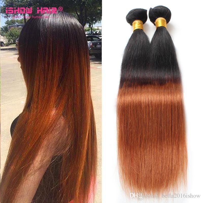 Cheap Brazilian Hair Bundles Uk Ombre Straight Weave Sale 3pcs Lot