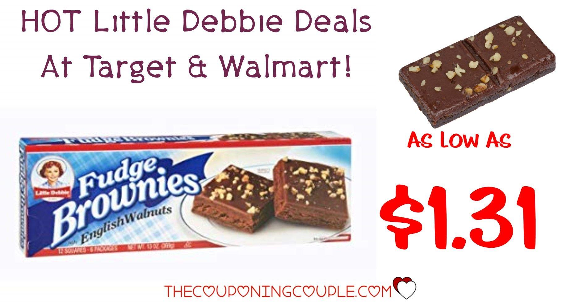 Little Debbie Fudge Brownies As Low As 1 31 With Walmart Target Deals In 2020 Fudge Brownies Fudge Debbie Snacks