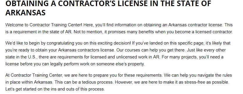 Arkansas Contractor License Courses Classes Exam Prep Promote Your Business Contractors License Exam Prep