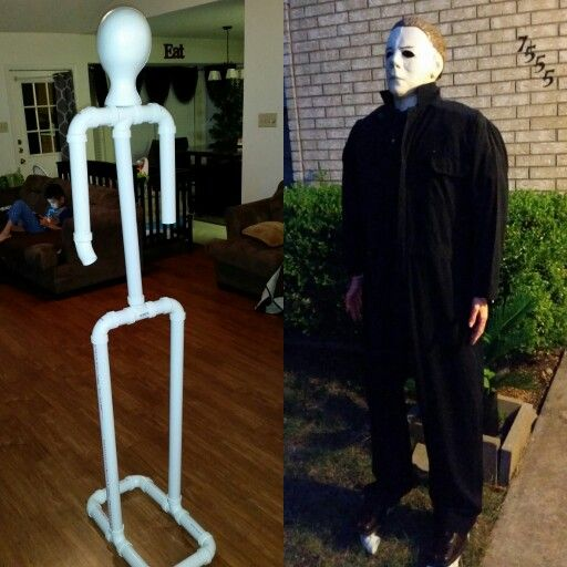 Halloween body frame - pvc pipes Michael Myers Halloween