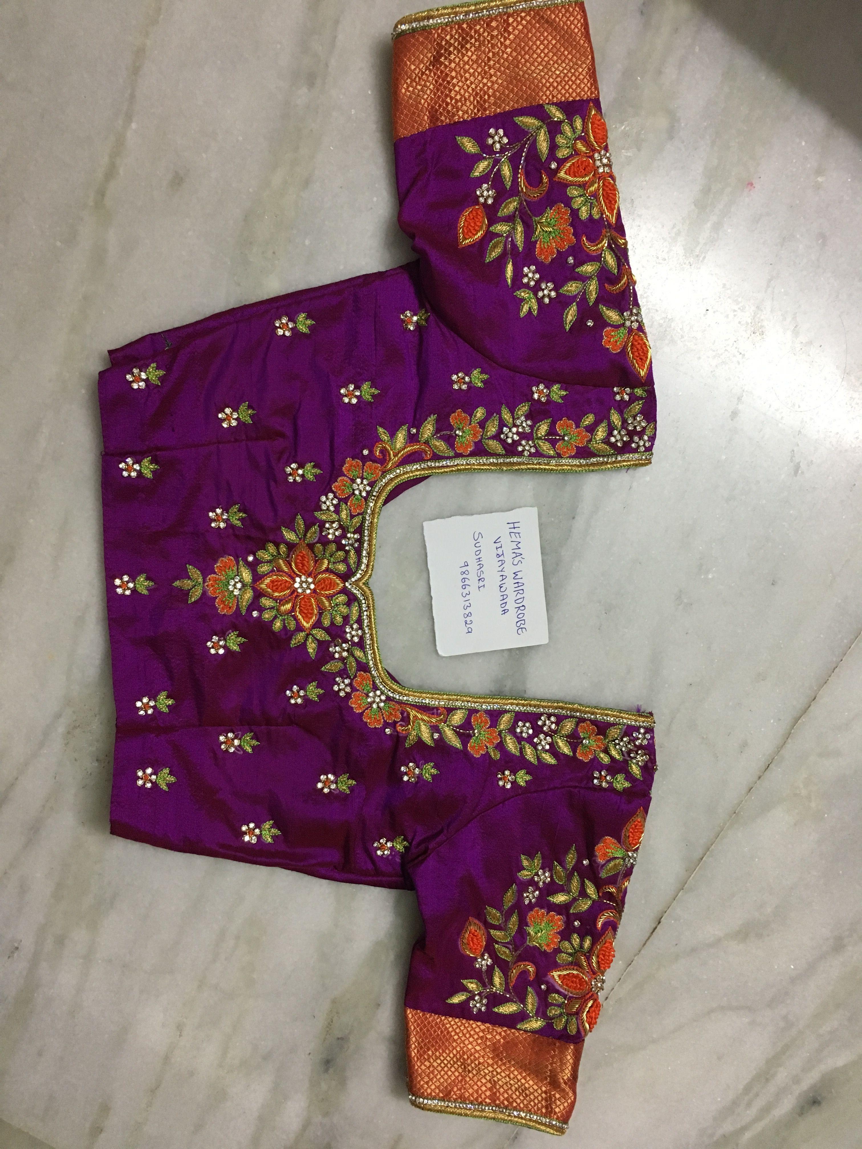 Silk saree blouse designs without embroidery hemaswardrobe sudhasri  dress  pinterest  blouse designs saree